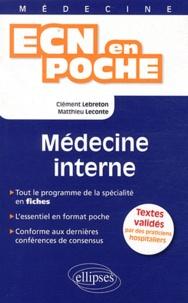 Clément Lebreton et Matthieu Leconte - Médecine interne.