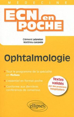 Clément Lebreton et Matthieu Leconte - Ophtalmologie.