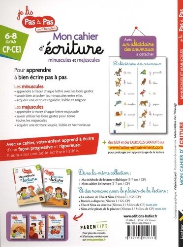 Français CP-CE1 6-8 ans Mon cahier d'écriture minuscules et majuscules  Edition 2019