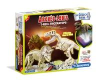 CLEMENTONI - dvf archéo-ludic t-rex & tricératops