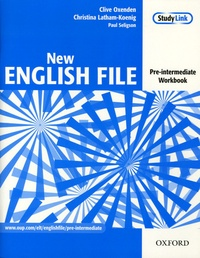 Clive Oxenden et Christina Latham-Koenig - New English File pre-intermediate workbook with answers and multiROM pack.