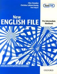 Clive Oxenden et Christina Latham-Koenig - New English File - Pre-intermediate Workbook. 1 Cédérom