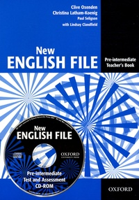 Clive Oxenden et Christina Latham-Koenig - New English File - Pre-intermediate Teacher's Book. 1 Cédérom