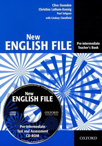 Clive Oxenden et Christina Latham-Koenig - New English File - Pre-intermediate Teacher's Book. 1 Cédérom