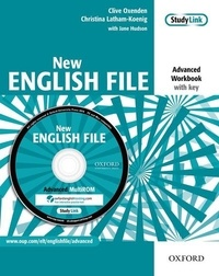 Clive Oxenden et Christina Latham-Koenig - New English File - Advanced Workbook with key. 1 Cédérom