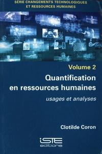 Clotilde Coron - Quantification en ressources humaines - Usages et analyses.