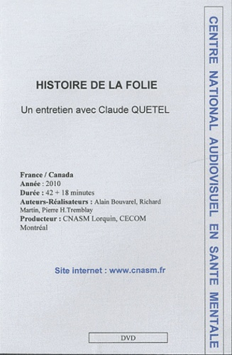 Claude Quétel - Histoire de la folie - DVD.