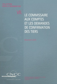 Ucareoutplacement.be Le commissaire aux comptes et les demandes de confirmation des tiers Image
