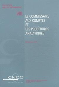 CNCC - Le commissaire aux comptes et les procédures analytiques.