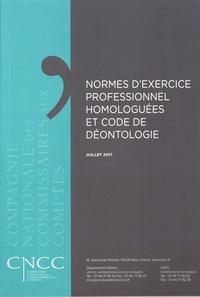 CNCC - Normes d'exercice professionnel homologuées et code de déontologie.