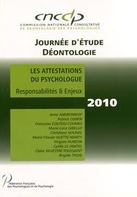CNCCP - Les attestations du psychologue - Responsabilités & enjeux.