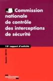 CNCIS - Commission nationale de contrôle des interceptions de sécurité - 19e rapport d'activité 2010.