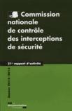 CNCIS - Commission nationale de contrôle des interceptions de sécurité - 21e rapport d'activité 2012-2013.