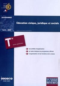 Education civique, juridique et sociale Tle séries générales (ES, L, S) - Programme en vigueur à la rentrée de lannée scolaire 2012-2013.pdf