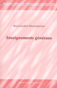 CNDP - Enseignements généraux - Baccalauréat Professionnel.