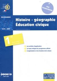 CNDP - Histoire-géographie, éducation civique 1e STI2D, STL et STD2A - Programmes.