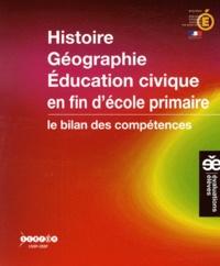 CNDP - Histoire Géographie Education civique en fin d'école primaire - Le bilan des compétences.