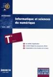CNDP - Informatique et sciences du numérique Tle S - Programme en vigueur à la rentrée de l'année scolaire 2012-2013.