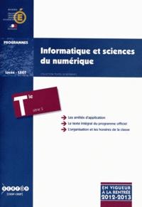 Feriasdhiver.fr Informatique et sciences du numérique Tle S - Programme en vigueur à la rentrée de l'année scolaire 2012-2013 Image