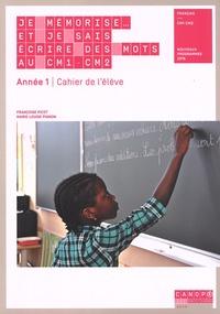 CNDP - Je mémorise et je sais écrire des mots CM1-CM2 Année 1 - Cahier de l'élève lot de 10.