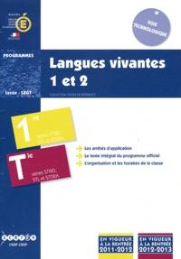 CNDP - Langues vivantes 1 et 2 1e et Tle STI2D, STL et STD2A - Programmes.