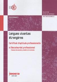 CNDP - Langues vivantes étrangères CAP et Bac pro - Programmes.