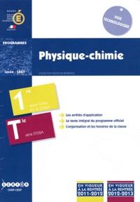 CNDP - Physique-chimie 1e STI2D, STL et STD2A, Tle STD2A - Programmes 2011-2012 et 2012-2013.