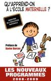 CNDP - Qu'apprend-on à l'école maternelle ? - Les nouveaux programmes.