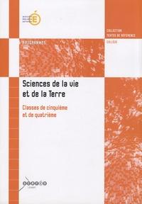 Histoiresdenlire.be Sciences de la vie et de la Terre 5e/4e - Programmes Image