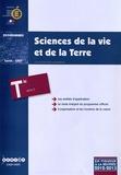 CNDP - Sciences de la vie et de la Terre Tle S - Programme en vigueur à la rentrée de l'année scolaire 2012-2013.