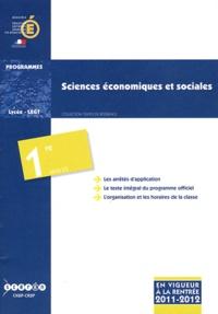 CNDP - Sciences économiques et sociales 1e ES - Programmes.