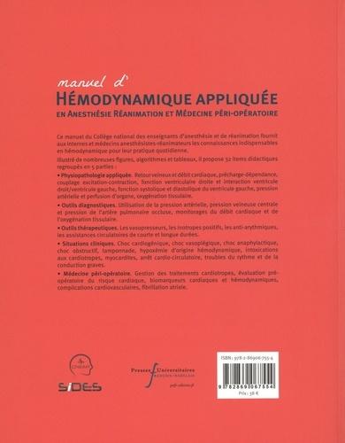 Manuel d'hémodynamique appliquée en anesthésie réanimation et médecine péri-opératoire