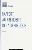 CNER - Rapport du CNER au président de la République.