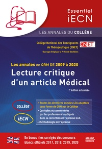 CNET - Lecture critique d'un article médical - Les annales en QRM de 2009 à 2020.