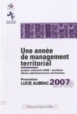 CNFPT - Une année de management territorial - Promotion Lucie Aubrac 2007-2008.
