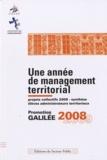CNFPT - Une année de management territorial - Promotion Galilée 2008-2009.