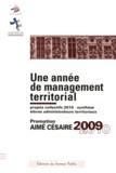 CNFPT - Une année de management territorial - Promotion Aimé Césaire 2009-2010.