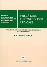 CNGOF - Mises à jour en gynécologie médicale - L'adolescence.