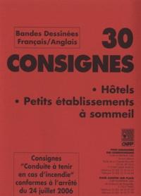 30 consignes hôtels, petits établissements à sommeil - Consignes conduite à tenir en cas dincendie conformes à larrêté du 24 juillet 2006, bandes dessinées français-anglais.pdf