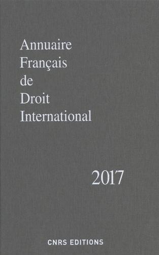 CNRS - Annuaire français de droit international - Tome 63.