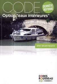 """Code Rousseau - Code option """"eaux intérieures""""."""