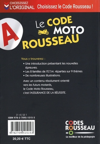 Le code moto Rousseau  Edition 2020