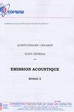 Cofrend - Certification du personnel CND Emission acoustique niveau 2 - Questionnaire d'examen Ecrit général.