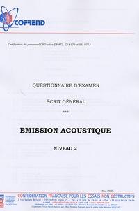 Accentsonline.fr Certification du personnel CND Emission acoustique niveau 2 - Questionnaire d'examen Ecrit général Image