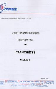 Histoiresdenlire.be Certification du personnel CND Etanchéité niveau 3 - Questionnaire d'examen Ecrit général Image