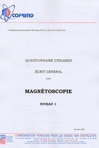 Icar2018.it Certification du personnel CND Magnétoscopie niveau 1 - Questionnaire d'examen Ecrit général Image