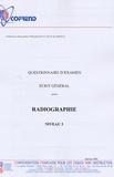 Cofrend - Certification du personnel CND Radiographie niveau 3 - Questionnaire d'examen Ecrit général.