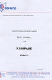 Cofrend - Certification du personnel CND Ressuage niveau 2 - Questionnaire d'examen Ecrit général.