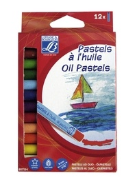 COLART FRANCE - Set de 12 pastels à l'huile - coloris assortis