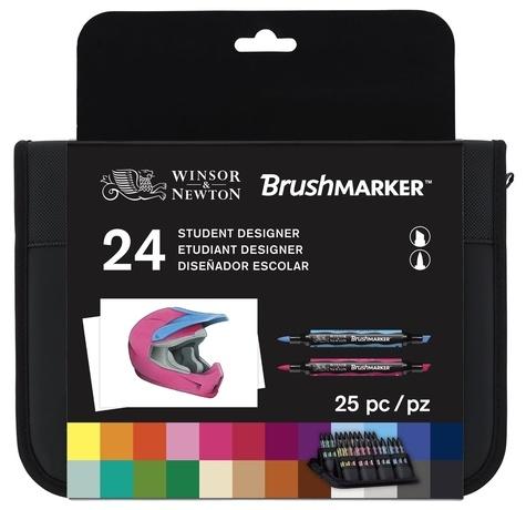 COLART FRANCE - Trousse marqueurs Brushmarker / 24 Assortiment Casque moto